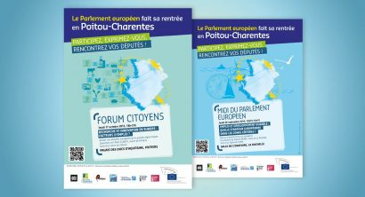 Design graphique - Flyers Parlement européen