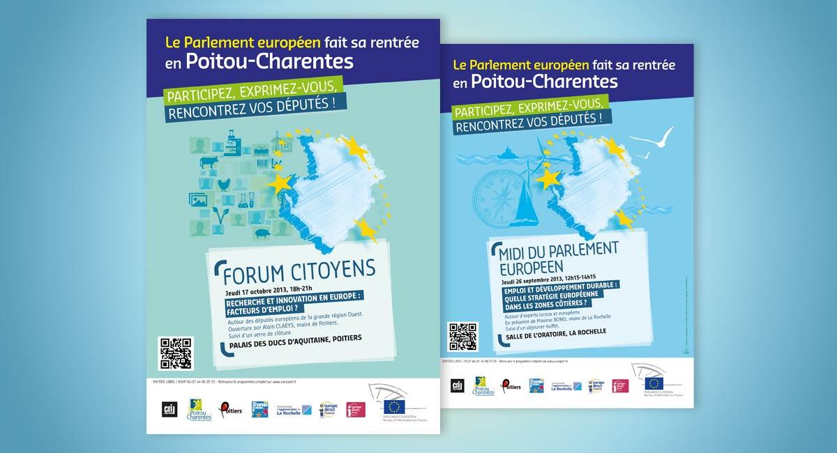 Parlement européen design graphique - Flyers - Nantes