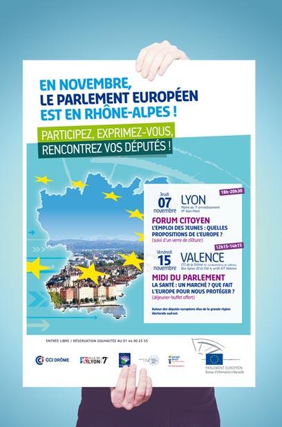 Affiche du parlement - Directeur artistique Nantes